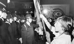 Protests against News International's move to Wapping in 1986