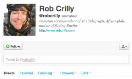 Rob Crilly's Twitter page