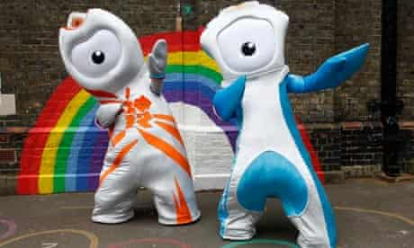 London 2012 mascots Wenlock and Mandeville