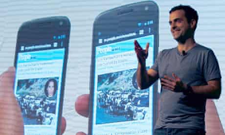 Hugo Barra at the Galaxy Nexus launch