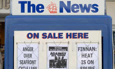 A billboard for The News, Portsmouth
