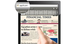 Financial Times web app for iPhone and iPad