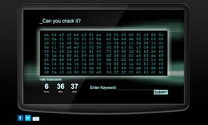 GCHQ 'Can you crack it?' website ad