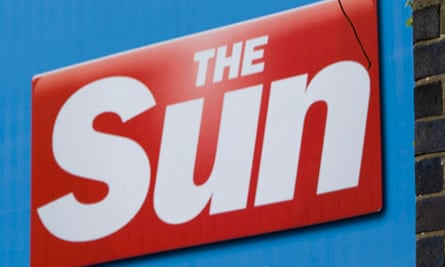 A poster outside the Sun newspaper offices in Wapping