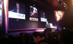 Sir Martin Sorrell at the Mobile World Congress