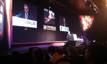 Sir Martin Sorrell at the Mobile World Congress