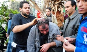 Egypt protests: French reporter injured