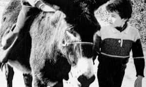 Blackie the Donkey in March 1987.