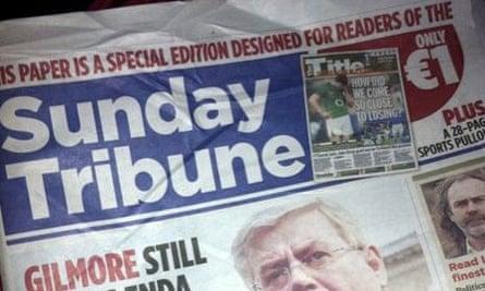 Irish Mail on Sunday spoof cover