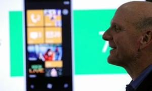 Microsoft's Steve Ballmer launches Windows Phone 7 in October 2010