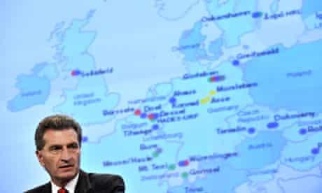 EU energy commissioner Günther Oettinger