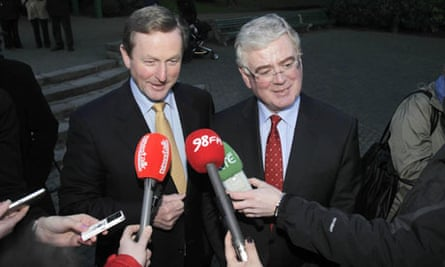 Enda Kenny, left, and Eamon Gilmore