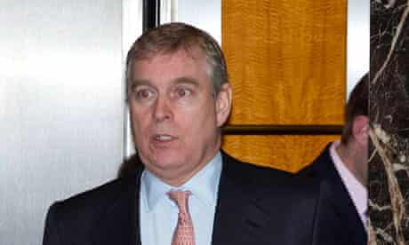 Prince Andrew in Canary Wharf