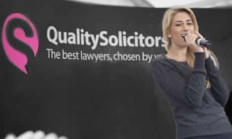 Stacey Solomon at the opening of the QualitySolicitors branch in Beverley