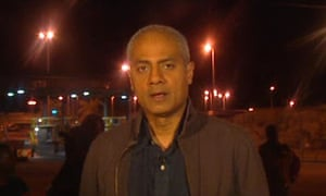 George Alagiah reporting on the Zimbabwe elections