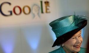 Queen visits Google in October 2008