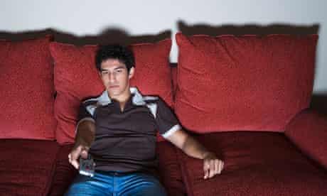 A man on a sofa