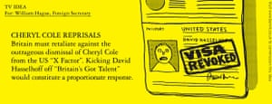 Benrik Pitch: Cheryl Cole reprisals