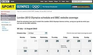 BBC Olympics planner