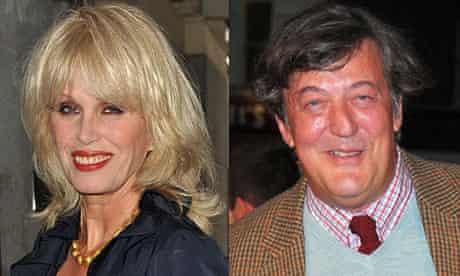 Joanna Lumley and Stephen Fry