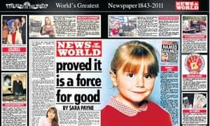 Sara Payne's tribute to News of the World