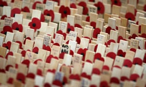 Royal British Legion Field of Remembrance in Wootton Bassett