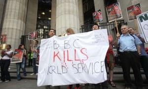 Journalists strike at BBC