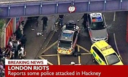 Hackney riots on BBC News