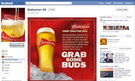 Budweiser Facebook page