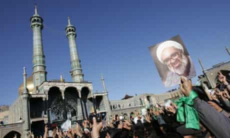 Funeral of Iran's leading dissident cleric, Grand Ayatollah Hossein Ali Montazeri