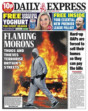 London riots front pages: Daily Express