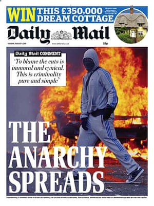 London riots front pages: Daily Mail