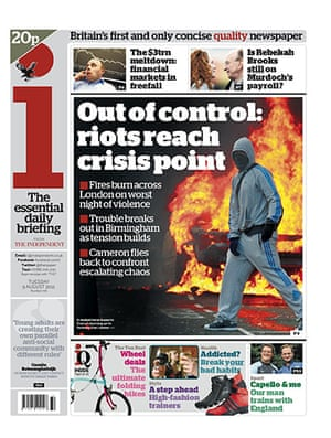 London riots front pages: i