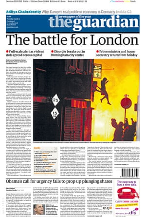 London riots front pages: The Guardian final