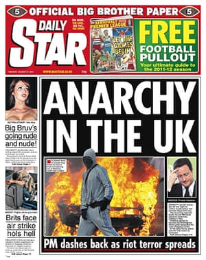 London riots front pages: Daily Star final