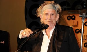 Rolling Stones' guitarist Keith Richards at the GQ awards 2011
