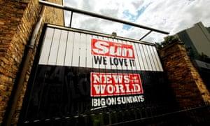 Sun and News of the World logos