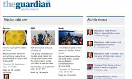 Guardian Facebook app