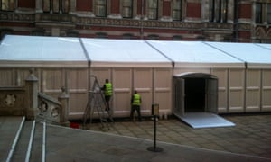 Leveson inquiry marquee