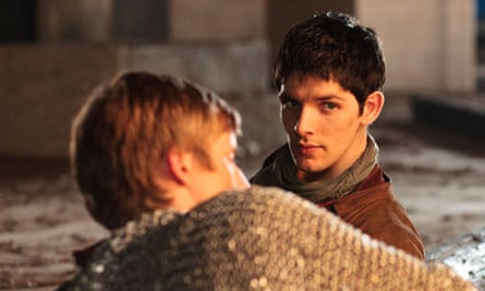 Arthur and Merlin from BBC1's Merlin