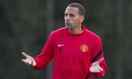 Rio Ferdinand in training