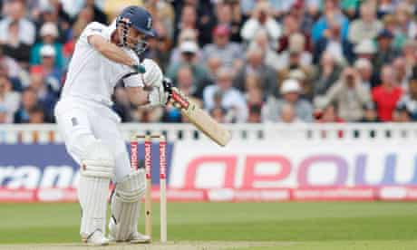 England's Andrew Strauss in Test match