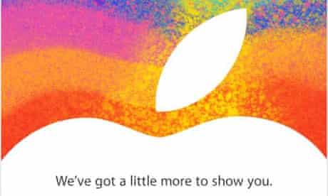 iPad mini launch invitation