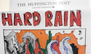 Huffington Post UK's hand-drawn Sandy front page