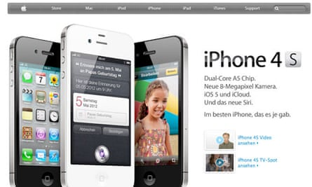 Apple's German web store