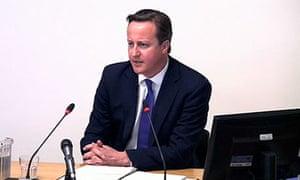 Levesion inquiry: David Cameron