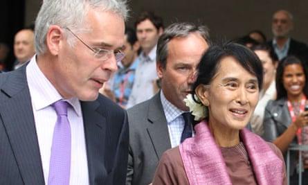 Peter Horrocks and Aung San Suu Kyi