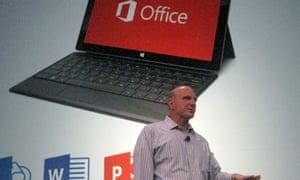 Microsoft's Steve Ballmer introduces Office 2013