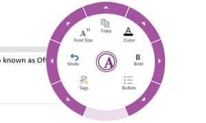 OneNote MX, a Metro app, has an unusual wheel control for font selection