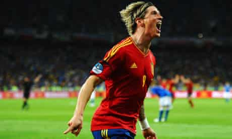 Euro 2012 final: Fernando Torres of Spain